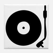 Vinyl Record Turntable Tile Coaster