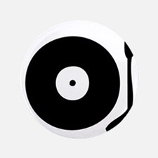 "Vinyl Record Turntable 3.5"" Button"