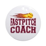 Fastpitch Coach Ornament (Round)