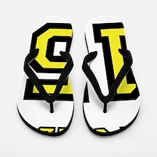 tshirt_lost_island_yellow_black_ford_15 Flip Flops