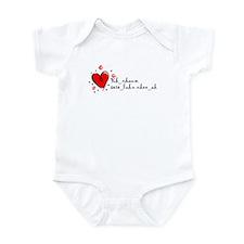 """I Love You"" [Cambodian] Infant Bodysuit"