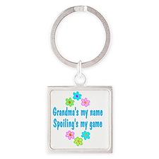 spoilGrandma Square Keychain
