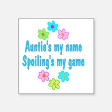 "spoilAuntie Square Sticker 3"" x 3"""