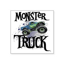 "Monster_Truck_cp Square Sticker 3"" x 3"""