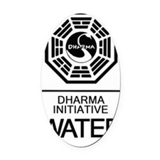 Dharma Water Oval Car Magnet
