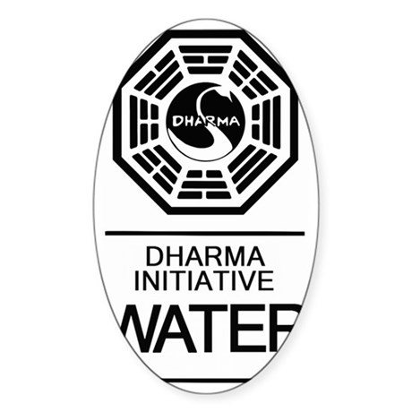Dharma Water Sticker (Oval)