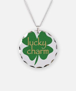 lucky charm Necklace Circle Charm