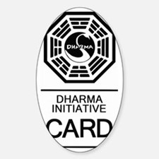 Dharma Card Decal