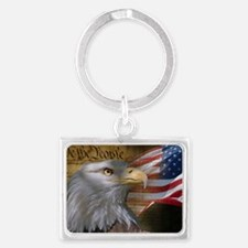 We_the_People_12inch_rect Landscape Keychain