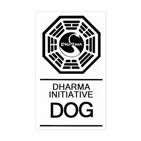 Dharma Dog Sticker (Rectangle)