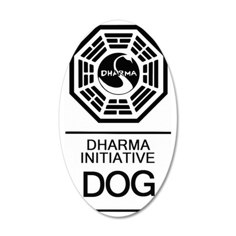Dharma Dog 35x21 Oval Wall Decal