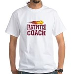 Fastpitch Coach White T-Shirt