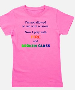 Fire and Broken glass 12 Girl's Tee