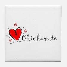 """I Love You"" [Bulgarian] Tile Coaster"