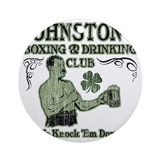 johnstons club Round Ornament