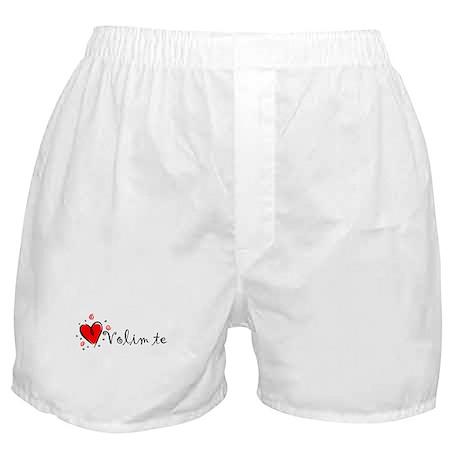 """""""I Love You"""" [Bosnian] Boxer Shorts"""