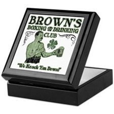 browns club Keepsake Box