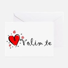 """""""I Love You"""" [Bosnian] Greeting Cards (Package of"""