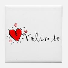 """I Love You"" [Bosnian] Tile Coaster"