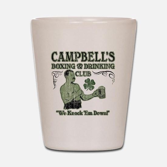 campbells club Shot Glass