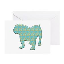 Paisley Bulldog Greeting Cards (Pk of 10)