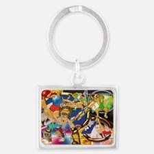 5-Competitive Sports Art and Ph Landscape Keychain