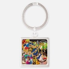 7-Competitive Sports Art and Photo Square Keychain