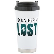 Id-Rather-Be-Lost-(white-shirt) Stainless Steel Tr