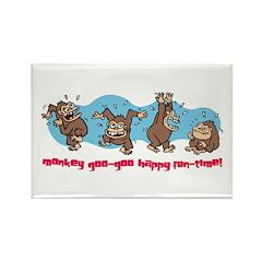 Monkey goo-goo happy fun-time Rectangle Magnet