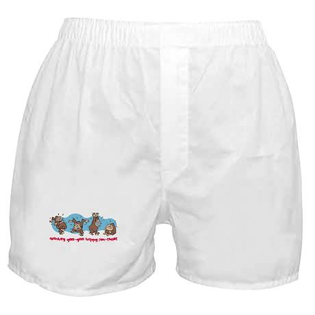 Monkey goo-goo happy fun-time Boxer Shorts