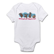 Monkey goo-goo happy fun-time Infant Bodysuit