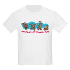 Monkey goo-goo happy fun-time Kids T-Shirt