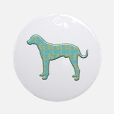 Paisley Catahoula Ornament (Round)