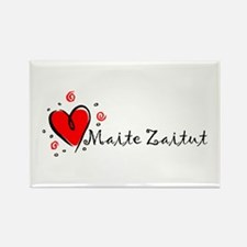 """I Love You"" [Basque] Rectangle Magnet"