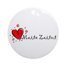 """I Love You"" [Basque] Ornament (Round)"
