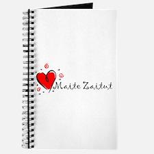 """I Love You"" [Basque] Journal"