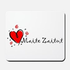 """I Love You"" [Basque] Mousepad"