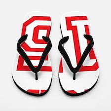 Sawyer Red Flip Flops