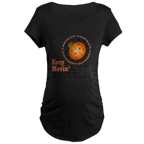 10x10_MSsmile4 Maternity Dark T-Shirt