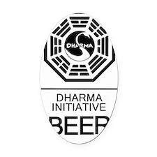 Dharma Beer Oval Car Magnet