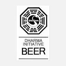 Dharma Beer Sticker (Rectangle)