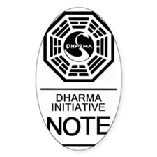Dharma Note Decal