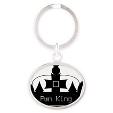 pwnking-golf-shirt-front Oval Keychain