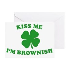 Kiss Me Im Brownish Greeting Card