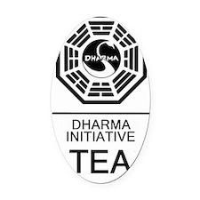 Dharma Tea Oval Car Magnet