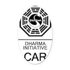 Dharma Car Oval Car Magnet