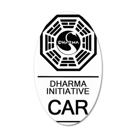 Dharma Car 35x21 Oval Wall Decal