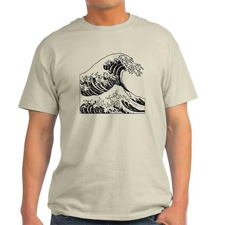 great_wave_black_10x10 Light T-Shirt