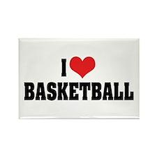 I Love Basketball 2 Rectangle Magnet (10 pack)