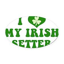 i-love-my-irish-setter Oval Car Magnet